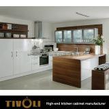 Governo di parete di vetro del portello per l'armadio da cucina bianco moderno della pittura Tivo-0200h su ordine
