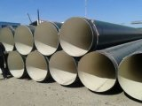 Tubo de acero anticorrosión alineado con el mortero del cemento