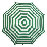 일요일 우산을 구부리는 아크릴 직물을 인쇄하는 녹색 줄무늬