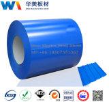 Folhas de metal onduladas da fábrica de China/aço revestido telhadura da cor