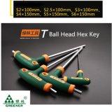Ключ Т-образной рукоятки ключа Hex ключа cr-V установленный