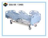(A-53) Cama de hospital manual Double-Function movible con la pista de la base del PE