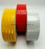 格子水晶が付いている明確な蛍光黄色い反射ステッカー