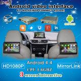 Système de navigation Android Quad-Core le plus récent pour le support de Mazda à afficher sur le moniteur de repose-tête