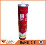 Rapidamente posicionando o líquido forte prega o adesivo de múltiplos propósitos