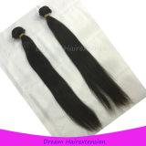自然なカラーのまっすぐなインドのバージンの毛の織り方