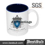 Сублимация покрытий Js Mugs кружки Two-Tone цвета 11oz - голубое B11naa-07