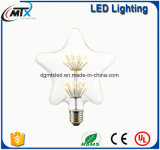 Nueva manchado moderno de cristal de la lámpara LED E27 artificial pintado luces estrelladas de la lámpara
