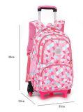 A figura geométrica rolamento dos miúdos continua o saco do trole da trouxa da escola da bagagem