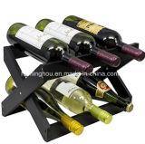 Encimera plegable del estante de madera del vino de 6 botellas para el hogar para el regalo