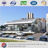 Système préfabriqué de ventes de véhicule de structure métallique