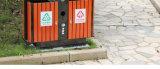 Cubo de la basura al aire libre vendedor caliente con la madera plástica (HW-102)