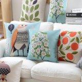 Almohadillas decorativas azules de lino del algodón barato de la fábrica