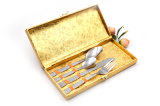Acero inoxidable del final de plata del satén de Alemania conjunto de la cuchillería de 4 pedazos