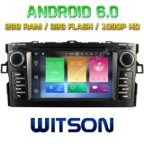 Witson Octa-Core (Eight Core) DVD de voiture Android 6.0 pour Toyota Auris 2007-2011 2g ROM 1080P Touch Screen 32GB ROM (B5730T)
