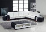 Sofà sezionale dell'angolo moderno di stile, cuoio bianco dell'Italia (HC1006)