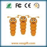 Da forma modelo da lagarta do PVC OTG excitador instantâneo do USB