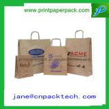 新しいデザイン方法クラフト紙袋の食料雑貨入れの袋のショッピング・バッグ
