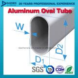 Taille personnalisée par profil en aluminium rond ovale de tube de vente directe d'usine