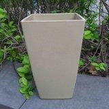Bacs de fleur en bambou respectueux de l'environnement de fibre et bac coloré de planteur (BC-FP1009)