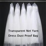 Sacchetto respirabile del vestito da cerimonia nuziale della maglia netta trasparente sottile chiara