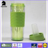 Aufbereitete doppel-wandige Plastikkaffeetasse