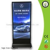 Caixa leve de anúncio móvel portátil do frame de alumínio dos melhores produtos