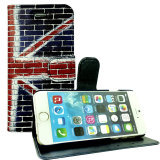 Accessorio di cuoio del telefono mobile di iPhone 7 della fessura per carta della cassa del telefono