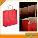 La venta al por mayor recicla la bolsa de papel de encargo de Brown Kraft, bolsa de papel que hace compras