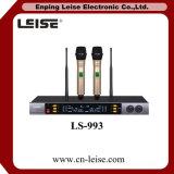 Ls-993 UHF Dubbel - de Draadloze Microfoon van multi-Freqency van het kanaal