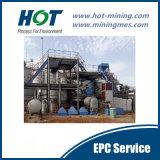 Carbono em lixiviar a planta de produção