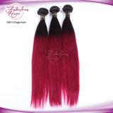 цвет прямых волос 1b/99j девственницы человеческих волос 8A Ombre сотка