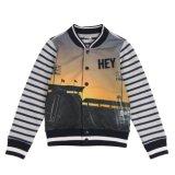 Модная куртка с кнопкой для мальчика