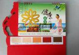 Presente de Adervisement com o calendário de mesa da carta de cor da pintura