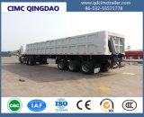 頑丈な3つのFuwa/BPWの車軸側面の半ダンプのダンプカートラックのトレーラー60-100トンの