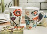 Tasses blanches en céramique en gros et tasse de café faite sur commande personnalisée