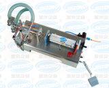 Única máquina de enchimento líquida Semi automática pneumática horizontal da cabeça