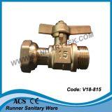 Valvola a sfera chiudibile a chiave d'ottone di angolo (V18-806)