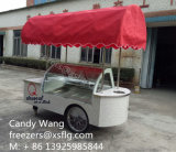 Carros dos Popsicles/trole da vara/congeladores /Showcase gelado para a venda