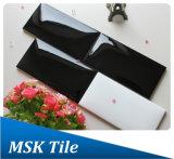 keramische 75X150mm die schwarze glatte Glasur Brot-Schauen Wand-Fliese