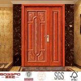 Legno dell'entrata del portello di doppia entrata dell'appartamento/portello di legno (GSP1-010)