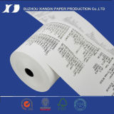 le papier thermosensible de roulis de papier thermosensible de 57mm25m labourent Rolls
