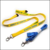 Business Ribbon Imprinting / Imprinted Logo Custom Lanyard for Government