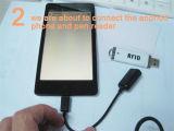 De gemakkelijke Genomen Tag213 Lezer van de Desktop USB RFID van de Spaander NFC kan met de Functie van Andriod werken en van PC