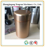 高いアルミニウム茶小さなかん、茶容器、アルミニウム金属ボックス