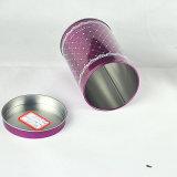 Цилиндрический держатель пер олова металла, контейнер пер, малая круглая коробка олова пер
