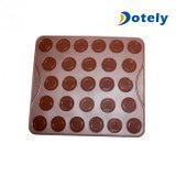 Molde de silicona Círculo Macaron Mat pastelería cookies Bandeja de horno mollete