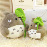 Il personaggio dei cartoni animati il mio Totoro contiguo ha personalizzato il giocattolo della peluche farcito regalo del cuscino dell'ammortizzatore di figura