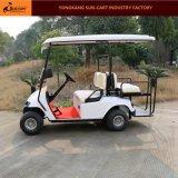 4 Passagier-elektrisches Golf-Fahrzeug mit hinteren Kippen-Sitzen (faltende Windschutzscheibe)