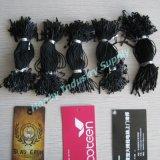 Одевая колючий черный латунный шнур бирки Hang английской булавки